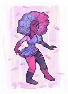 I loved cotton candy Garnet so much! - by LavenderDreamer13 on tumblr http://lavenderdreamer13.tumblr.com/post/137693817795/im-a-little-late-to-the-party-but-come-on-i-had garnet su steven universe art the answer