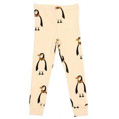 Mini Rodini Penguin Legging In Beige