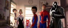 Spider Gwen, Spider Art, Black Spider, Miles Morales, Disney Pixar, Gina Torres, Jake Johnson, Film D'animation, Avengers