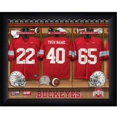 College Football Locker Room Signs with FREE Personalization!