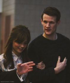 Matt & Jenna arriving for 'The Eleventh Hour' panel ~ DW Celebration at ExCeL London
