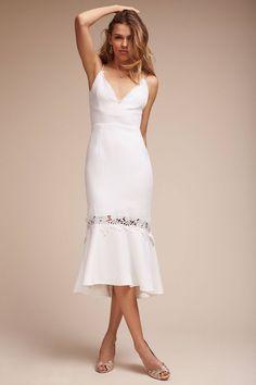Anthropologie's Amina Dress. A lovely tea length dress for a chic City Hall wedding
