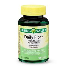 Psyllium Husk Capsules, Psyllium Husk Powder, Healthy Blood Sugar Levels, Fiber Supplements, Daily Fiber, Glycemic Index, Spring Valley, Lower Cholesterol, The Cure