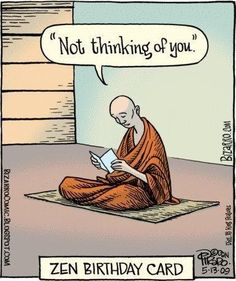 Yoga Funnies: Zen Birthday Card… From the new Downdog Diary Yoga Blog found exclusively at DownDog Boutique. DownDog Diary brings together yoga stories from around the web on Yoga Lifestyle... Read more at DownDog Diary