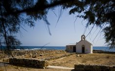 A church by the sea, in Crete, Greece. I would plan a wedding in a place like this.