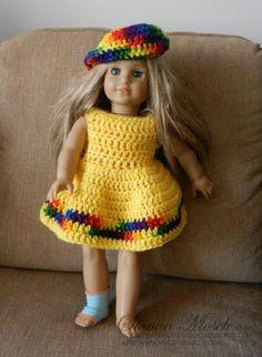 American Girl Doll Dress | AllFreeCrochet.com ~ easy skill ~ FREE - CROCHET
