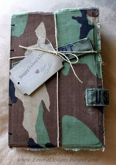 DEPLOYMENT JUNK JOURNAL, MINI ALBUM #DIY #Military #Father's #Day www.operationwearehere.com/craftssewingetc.html