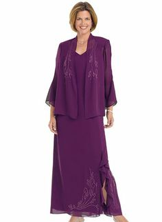 Beaded 2-Piece Evening Gown at www.amerimark.com