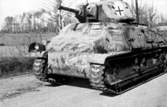 A French Somua S35 used by German Panzer forces in Belgium during June of 1944
