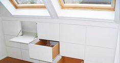 Master Suite im Dachgeschoss: 10 Design und 3 Annehmlichkeiten - New Room Interior Design Bedroom, Interior Design Trends, Stair Storage, Home, Interior Design Living Room, Interior, Attic Remodel, Home Decor, New Room