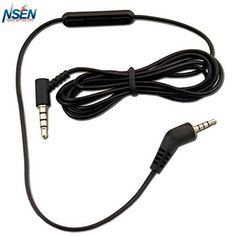 1.2m Replacement Inline Remote Mic Microphone Cable for Bose QuietComfort 3 QC 3 QC3 Acoustic Noise Cancelling Headphones