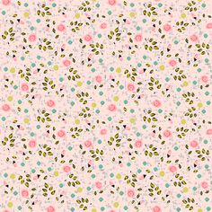Ditsy spring flower in pink fabric by fantazya on Spoonflower - custom fabric