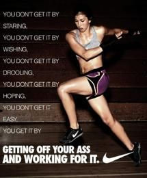 You don't get it by hoping... you get it by getting up off your ass and working for it!!!