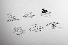Real Estate Retro Vintage Badges by lovepower   TaylorAdams on @creativemarket