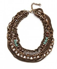 Same color, but styles of chain together. Like.