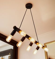 Industrial lamp for a Mid-century industrial dinning room interior design