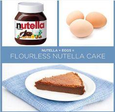 A easy nutella cake