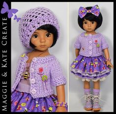 Purple Outfit for Little Darlings Dianna Effner 13 Maggie & Kate Create