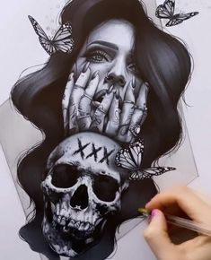 Pin Up Tattoos, Cover Up Tattoos, Body Art Tattoos, Sleeve Tattoos, Tattoos For Guys, Dark Art Drawings, Tattoo Drawings, Hannya Tattoo, Filigree Tattoo