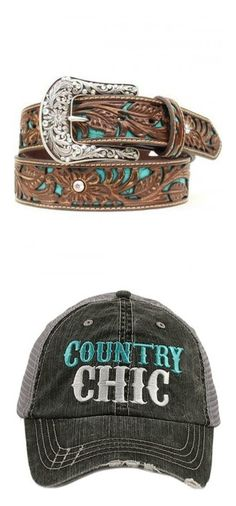 """Country Love"" by arabiancrazy ❤ liked on Polyvore featuring accessories, belts, wide western belts, wide buckle belt, cowgirl belts, sparkly belts, cowboy belt, hats, grey baseball cap and trucker hats"