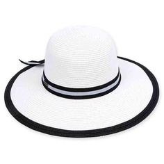e536301778a92 Spratley Black and White Sun Hat by Sun  N  Sand