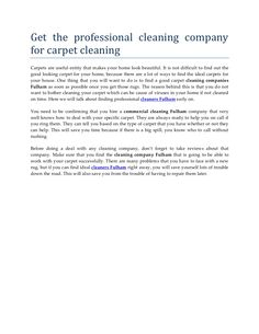 description: Professional cleaners Fulham provide affordable cleaning services thought out London, UK. Easy cleaning Fulham is the most leading cleaning compan… Professional Cleaners, Cleaning Companies, John Smith, Fulham, Cleaning Service, How To Clean Carpet, Home Look, How To Find Out, How To Look Better