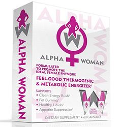 ALPHA WOMAN Fat Burner - Weight Loss Supplement For Women, 4-In-1 Feel Good Thermogenic Energizer, Libido Booster, Appetite Suppressant & Mood Enhancer, 60 Capsules //Price: $39.99 & FREE Shipping //     #hashtag2