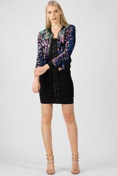 480ac04a9b091 Velvet Sequin Bomber Jacket. Velvet Sequin Bomber Jacket-Purple. Missi  Clothing Wholesale