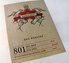 The Mandate Press business card