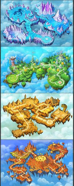 Isometric pack 3d modular blocks of surfaces 5 tiles multiplied game environment environment concept art game background background designs fantasy map environmental design game ui map games game design gumiabroncs Gallery