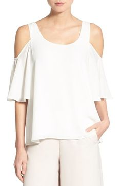 Chelsea28 Chiffon Cold Shoulder Top available at #Nordstrom
