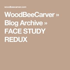 WoodBeeCarver » Blog Archive » FACE STUDY REDUX