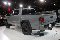 Three new colors have been added to the Tacoma TRD Pro: Cement (shown), Barcelona Red Metallic, and Super White