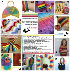 Welcome to Free Crochet Pattern Friday! Today is our final day for colour round ups. Today we are focusing on a Rainbow of Colours! If you would like to see the other colours I have curated here ar...