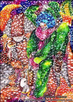 #clown #watercolor #painting #watercolour