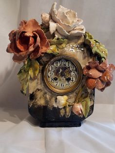 front of clock