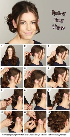 Tutorial: Rainy Day Updo - www.HairByKen.com