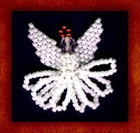 Beaded Angel Doll in Brick Stitch and Peyote Stitch, Beaded with Seed Beads