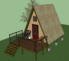 World's smallest house on wheels: Gypsy wagon - Simple Solar Homesteading Tiny Cabins, Tiny House Cabin, Tiny House Design, Small House Plans, A Frame Cabin Plans, Small Cabin Plans, Off Grid House, Cottage Plan, Building A Shed