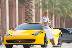 Pin for Later: See Paul Walker With His Team in New Furious 7 Pictures  Yellow isn't a bad color on him.