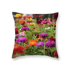 Excited to share the latest addition to my #etsy shop: Colorful Dahlia Blooming Flowers Throw Pillow  Pillow Case  http://etsy.me/2DdgQ76 #housewares #pillow#etsyshop #homedecor