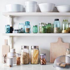 Ball Jar's...Yes Please.  I love this I wish I had a big kitchen!