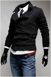 Korean Fashion ,Men's Casual Double Breasted Zipper Jacket. Little looser please.