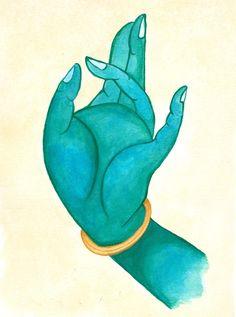 Green Tara Prithvi Mudra Art Print by El Otoao - X-Small Green Tara Mantra, Tara Goddess, Tibet Art, Indiana, Indian Folk Art, Madhubani Painting, Hindu Art, Buddhist Art, Sacred Art