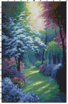 Cross Stitch Pattern Beautiful Secluded by theelegantstitchery Cross Stitch Love, Beaded Cross Stitch, Cross Stitch Designs, Cross Stitch Embroidery, Embroidery Patterns, Cross Stitch Patterns, Cross Stitch Landscape, Cross Stitching, Pattern Design