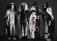 gorgeous sculptural, whimsical puffers by Craig Green for Moncler Fashion Design Portfolio, Fashion Design Sketches, Moncler, Bloodborne Art, Concept Clothing, Cocoon Dress, Conceptual Fashion, Craig Green, Character