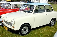 1975 Trabant Powered by a two-stroke pollution generator that maxed out at an ear-splitting 18 hp, the Trabant was a hollow lie of a car constructed of recycled worthlessness