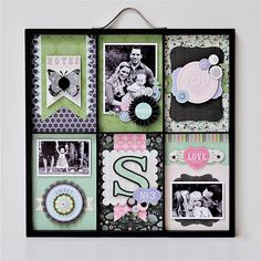 Vintage Vogue Altered Photo Tray  This would also make a lovely scrapbook layout!