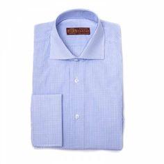 Camisa semi-ventana azul