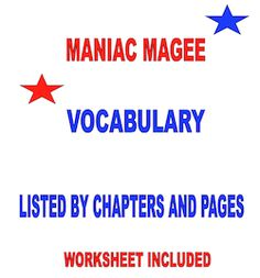 Maniac Magee Vocabulary listed by page and chapter! Spelling Lists, Spelling Activities, Comprehension Activities, Language Activities, Teacher Forms, Teacher Blogs, Teacher Stuff, Vocabulary List, Vocabulary Words